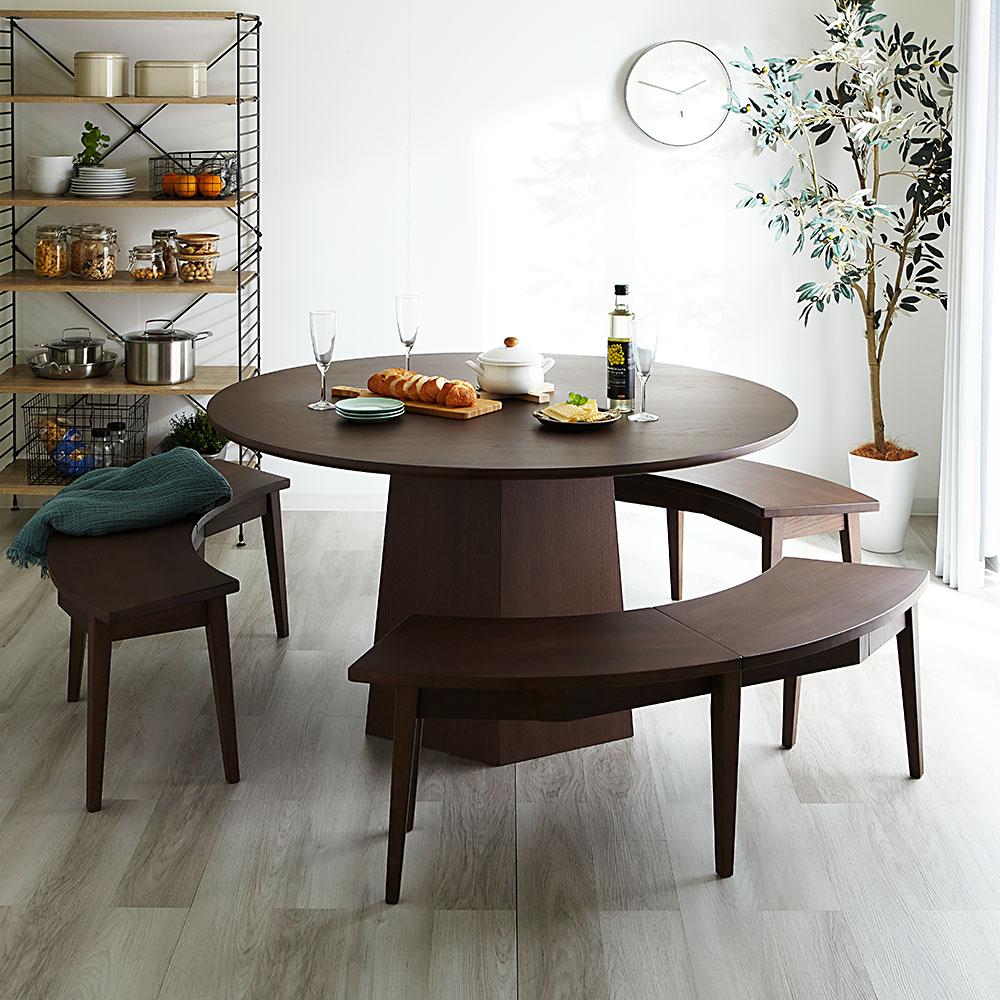 おうちでカフェスタイル♪円形ダイニングテーブル