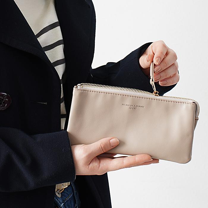 3層マルチ 合皮 長財布
